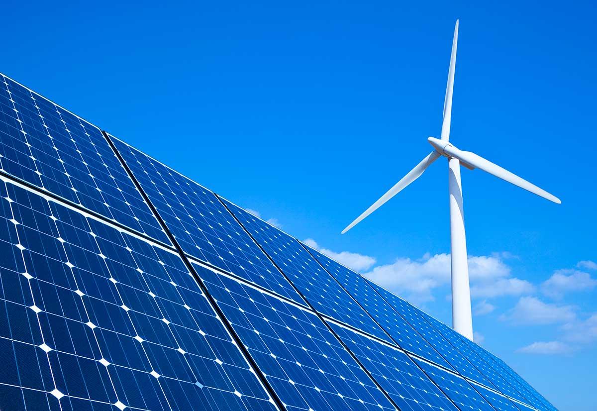 Pannelli solari, pale eoliche
